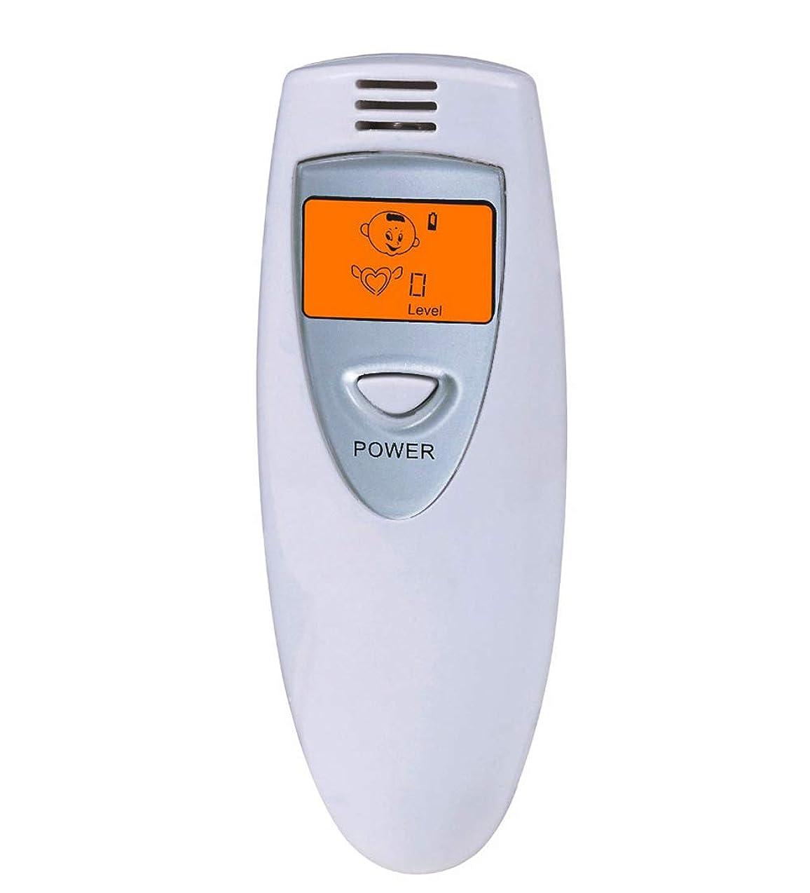 しおれた部分請求【瞬時測定】 携帯ブレスチェッカー デジタル口臭チェッカー 5段階レベル表示 コンパークト口臭予防検査器 大人子供エチケット (Grey)