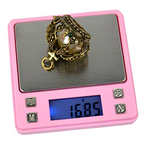 Mtree - Báscula digital de bolsillo para alimentos, 200 g/0,01 g, mini báscula de cocina portátil, gramos y onzas para pérdida de peso, color rosa, fácil de tara, calibrada de electrónica para joyas, cocina, hornear, viajar
