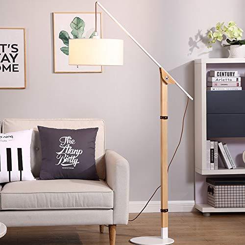 Moderne Arc staande lamp, compatibel met polen, leeslamp, verticale tafellamp, wit, linnen, schaduw, voor studie, woonkamer, slaapkamer, kantoor