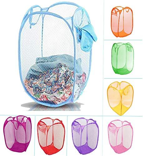 lovato Nylon Mesh 20 L Laundry Bag (Multicolour, 14x14x23 cm)