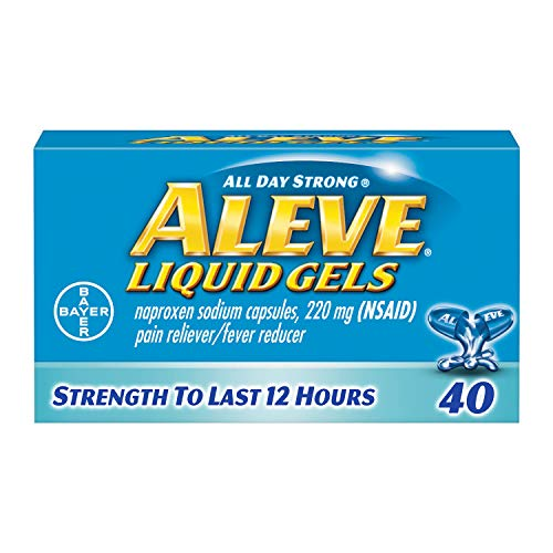 Aleve Liquid Gels with Naproxen Sodium, 220mg (NSAID) Pain Reliever/Fever Reducer, 40 Count