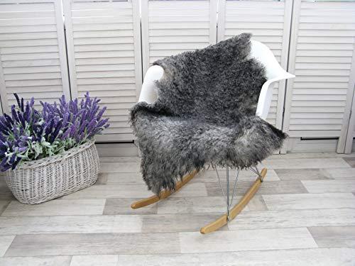 GoTLAND #325 Schaffell-Teppich, gelockt, luxuriös, echtes schwedisches Schaffell, 119,4 x 68,6 cm