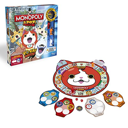 Hasbro Spiele B6494100 - Yo-kai Watch Monopoly Junior, Familienspiel - DEUTSCH