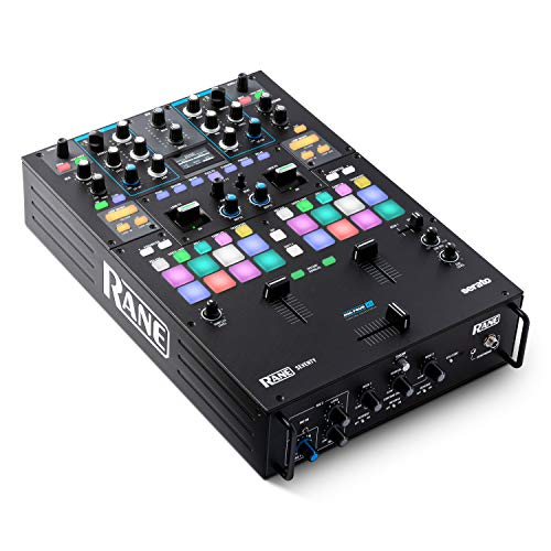 RANE DJ SEVENTY – Two Channel DJ Mixer for Serato DJ with Akai Professional MPC Performance Pads Internal DJ FX and Three Contactless MAG FOUR Faders