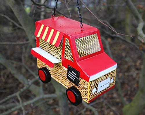 Comedero con forma de coche para pájaros de Garden Mile