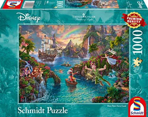 Schmidt Spiele 59635 Thomas Kinkade, Disney-Peter Pan, 1.000 Teile Puzzle, Bunt