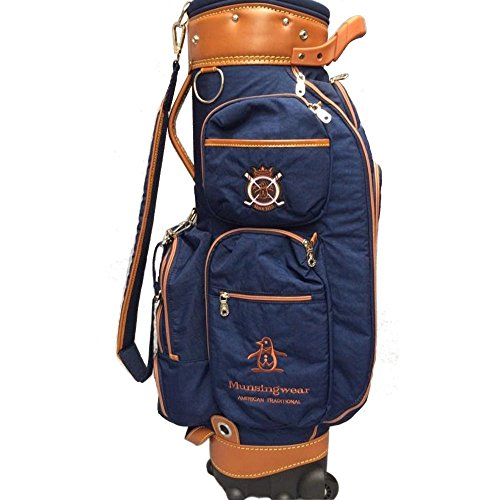 Golfbag Golf Bag Golf Cart Tasche Mit Rädern Golf Club Taschen-Travel Ball Bag-Mens Damen-Super Leichtgewicht 4kg-Fine Cloth-Grün/Dunkelblau/Rot (Farbe : Dunkelblau)