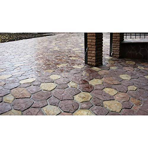 BMold 6 pcs Plastic MOLDS Flagstone Casting Concrete Paving Garden Paths Stone Patio