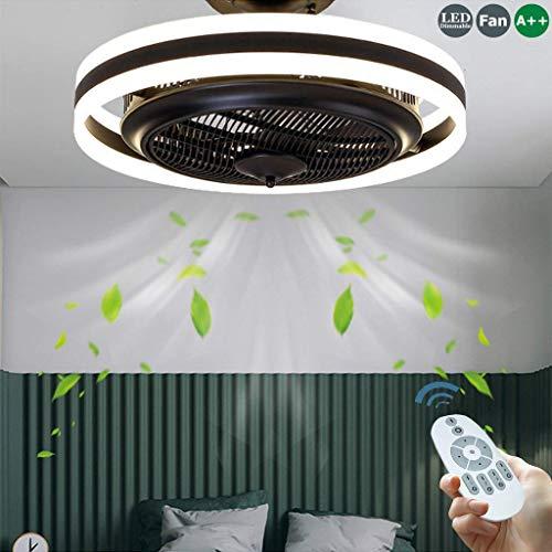 LED 96W Deckenventilator Neue moderne LED-Deckenleuchte Schwarz Kreativ mit Fernbedienung Dimmbare Lüfterleuchte Schlafzimmerlampe Wohnzimmer Kindergarten Büro Kinderzimmer Deckenventilator