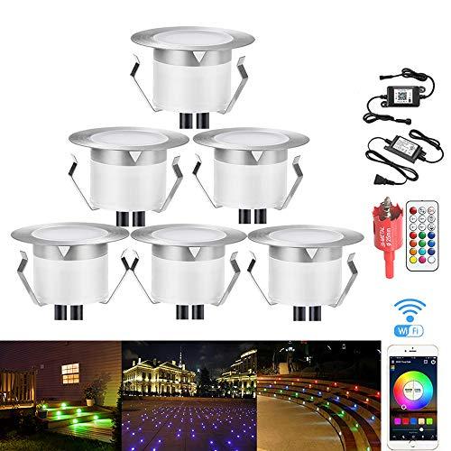 LED Deck Lights, 12v Low Voltage Landscape Lights Waterproof Stair Lights Φ1.85