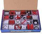 HYZH Juego de laberinto de 24 piezas 3D de equilibrio para deportes de pensamiento, bolas de acero, laberinto puzzle, juguete educativo para adultos y niños