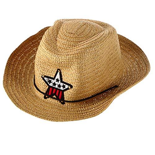 Elegante, para niños, vaquero occidental, sombrero de paja, sombrero para el sol,...