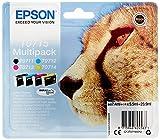 Epson T0715 - Pack cartuchos de tinta (4 colores) Stylus SX610FW, SX600FW, SX515W, SX510W,...