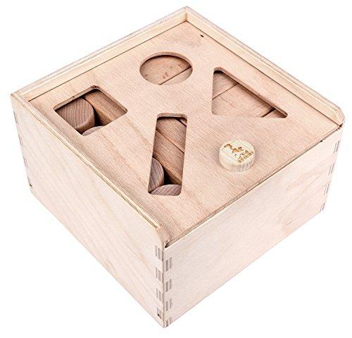 CreaBLOCKS 2-in-1 Steckbox / Formensortierspiel / Sortierbox Baby – Bauklötze - 2