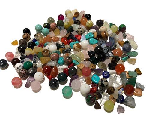 CRYSTAL KING ok. 200 sztuk miks kamieni półszlachetnych, perły półszlachetne, kamienie szlachetne, kamienie lecznicze, perły półszlachetne, koraliki półszlachetne, koraliki do majsterkowania, kwarc różany, majsterkowanie, biżuteria, perły, ozdobne pe