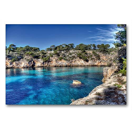 Premium Textil-Leinwand 90 x 60 cm Quer-Format Mallorca Cala Pi Impressionen | Wandbild, HD-Bild auf Keilrahmen, Fertigbild auf hochwertigem Vlies, Leinwanddruck von Jürgen Seibertz
