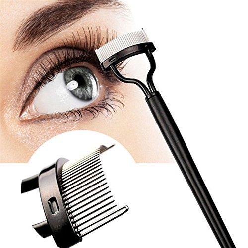 Pixnor - Peine para pestañas, aplicador de máscara de maquillaje