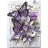 FEGAGA 5D Flower Diamond Painting Kits for Adults ,Full Drill Paint with Diamond Art Butterfly Animal Painting by Number Kits Home Wall Decor (11.8X15.7inch)