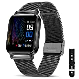 Canmixs Smartwatch Orologio Fitness Uomo Donna Impermeabile IP68 Smart Watch Cardiofrequenzimetro da polso Contapassi Activity Tracker Touch Digitale Sportivo Bluetooth Smartwatch per Android iOS