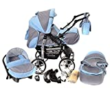 Kamil, Classic 3-in-1 Travel System with 4 STATIC (FIXED) WH
