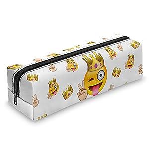 Fringoo – Estuche con cremallera, diseño de emoticonos, color Emoji King