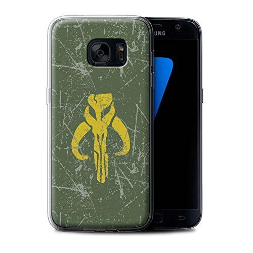 Hülle Für Samsung Galaxy S7/G930 Galaktisches Symbol Kunst Kopfgeldjäger Inspiriert Design Transparent Dünn Weich Silikon Gel/TPU Schutz Handyhülle Case