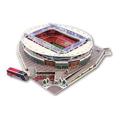 TZH 3D-Puzzle-Gebäudemodell, Home-Office-Dekoration 3D-Fußballfeld, 3D-Architektur-Modellbausatz Für Erwachsene Kinder-Teenager - Emirates Stadium