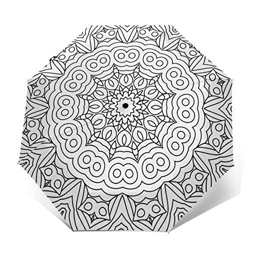 Regenschirm Taschenschirm Kompakter Falt-Regenschirm, Winddichter, Auf-Zu-Automatik, Verstärktes Dach, Ergonomischer Griff, Schirm-Tasche, Malvorlagen Erwachsene Teil