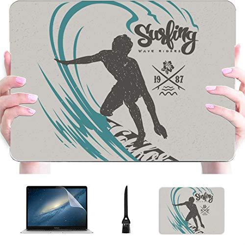 Carcasa rígida de plástico para MacBook Pro 2017, diseño de camiseta Surfer Big Wave compatible con Mac Air 13' Pro 13'/16' Mac Pro funda protectora para MacBook 2016-2020 versión