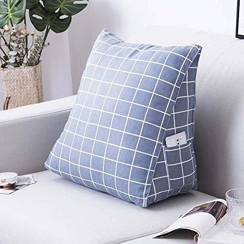 feilai Cojín de apoyo lumbar reclinable para sofá con bolsillo lateral, cojín de respaldo para respaldo de coche, respaldo de silla (color: 1, especificación: 45 x 25 x 50 cm)