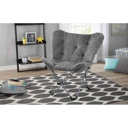 Mainstays Butterfly Chair, Grey