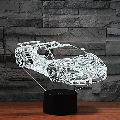 3D Limousine Optische Illusions-Lampen, Mit Fernbedienung,Tolle 7/16 Farbwechsel Acryl berühren Tabelle Schreibtisch-Nachtlicht mit USB-Kabel für Kinder Schlafzimmer Geburtstagsgeschenke Geschenk