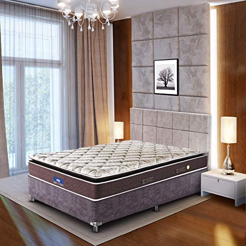 Peps Restonic 6-inch Queen Size Spring Mattress (Beige, 78x60x06) with Two Free Pillow