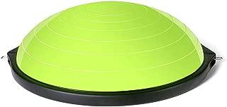 GLJJQMY Yoga Hemisphere Ball Balance Ball Pola Pilates Fitness Equipment Thickened Explosion-Proof 3 Colors Massage Balance Ball (Color : A)