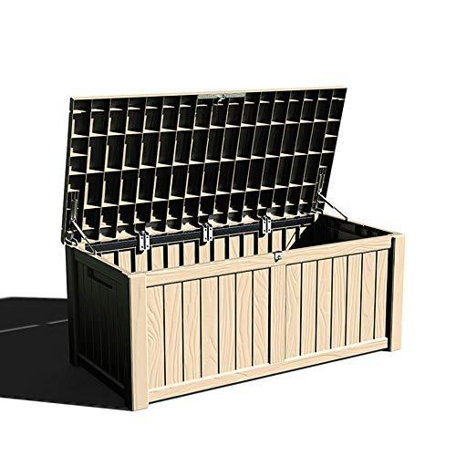 XLLLL Starplast Boîte De Rangement pour Vélo en Plastique Poubelle à roulettes Hangar Jardin Extérieur Banc étanche Magasin Grand Rotin Gris Coussin De Patio Idéal