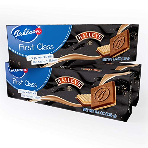 Bahlsen First Class Cookies with the famous flavor of Baileys Original Irish Cream (3 boxes) - Wafers covered in cream with the taste of Baileys and milky European chocolate - 4.4 oz boxes