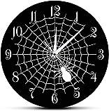 Reloj De Pared Reloj De Pared Telaraña Grande Con Números Árabes Reloj De Pared Fiesta De Halloween Telaraña De Terror Decorativa Telaraña Reloj De Pared Moderno Movimiento Silencioso Adecuado Para Do