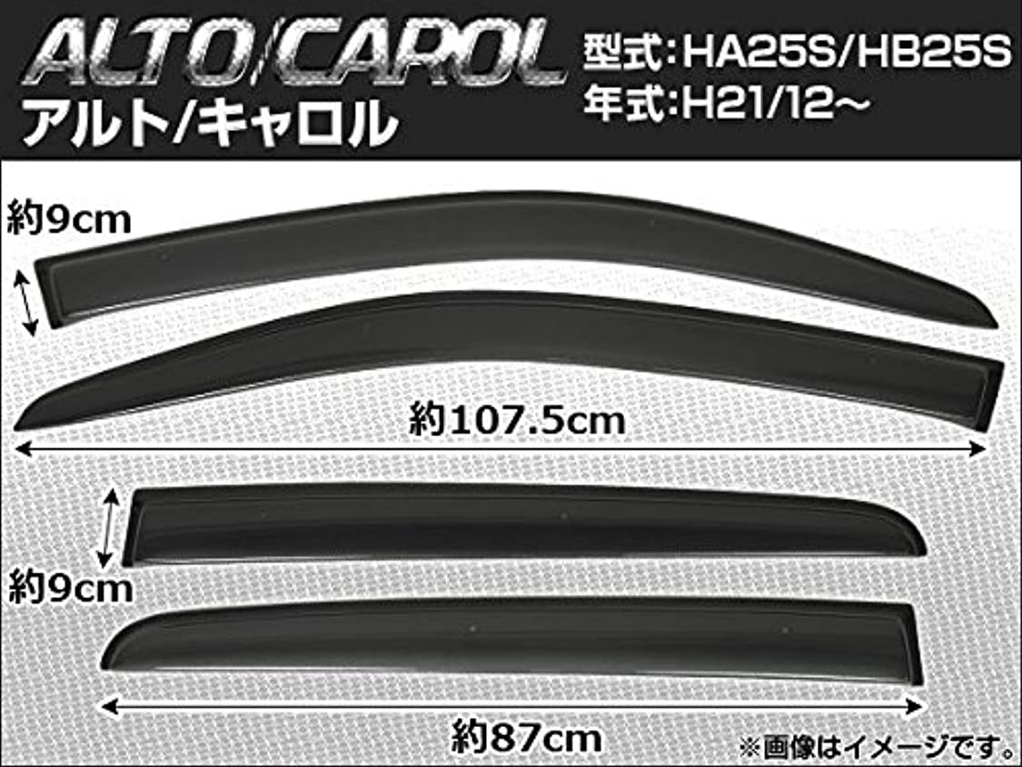 グラム気取らない研磨剤AP サイドバイザー 入数:1セット(4枚) スズキ アルト HA25S 2009年12月~