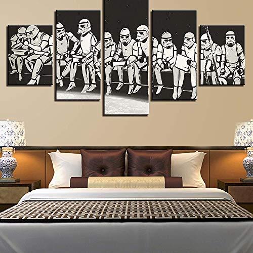 Geiqianjiumai Kunst Home Decoration Malerei 5pcs Planet Zeichen abstrakten Druck HD Poster Moderne Leinwand Malerei rahmenlose Malerei 30x50cmx2 30x70cmx2 30x80cmx1