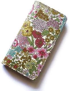 iPhone6sケース iPhone7ケース iPhone8ケース 手帳型 リバティ マーガレットアニー(ピンク) コーティング SHOKO MIYAMOTO かわいい おしゃれ マグネット無しでカード安全 スマホケース アイフォンケース Liberty…
