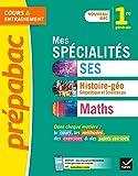 Mes spécialités SES, HGGSP, Maths 1re - Nouveau programme de Première générale 2019-2020