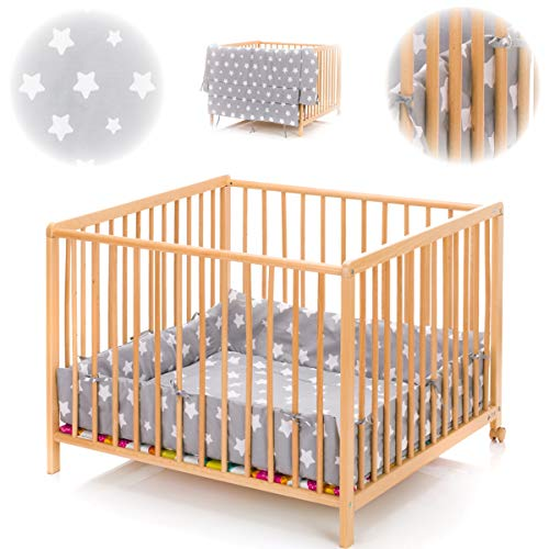 Playpen Cushioned Mat Insert Stars (for Playpens 100x100 cm and 75 x 100 cm) Playpen (100% Cotton)