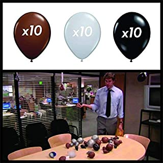 "Chillkat IT is Your Birthday. (30) 10"" Balloons, Brown, Gray, Black, The Office, Dwight Schrute"