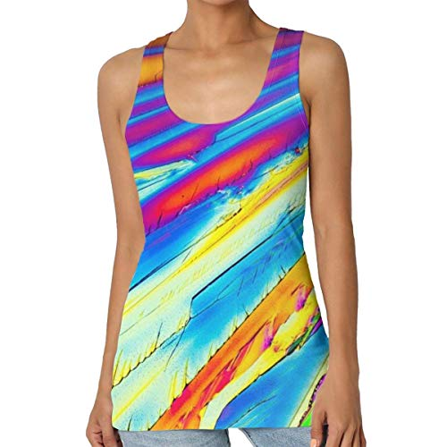 KLKLK Camiseta sin Mangas con Estampado de ácido cítrico para Mujer Camiseta de Chaleco de Yoga con Ajuste Holgado