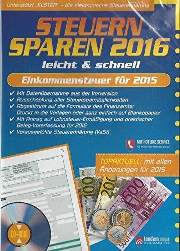 Steuern Sparen 2016 Steuersparer Aldi Lidl Steuererklärung 2015