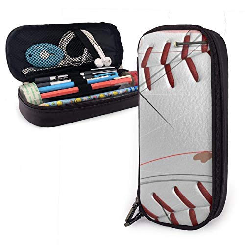 HHELI Baseball Man Pencil Case,Large Capacity Pencil Bag with Durable Zipper Students Stationery Pen Bag for Pens and Other School Supplies