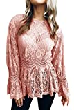 Camisetas De Mujer De Otoño Blusas De Encaje Crochet Sweety