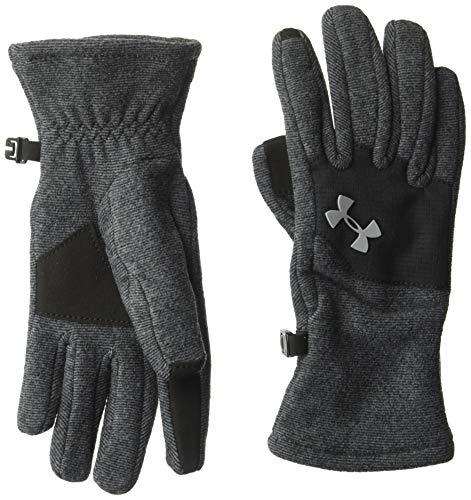 Under Armour Yth Survivor - Guantes de forro polar (2 unidades), color negro y acero