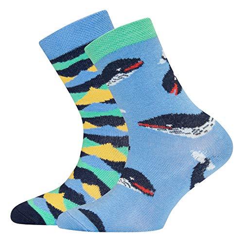 Ewers 2er Pack Kindersocken Jungen, MADE IN EUROPE, Socken Doppelpack Baumwolle
