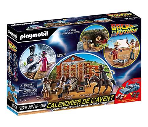 PLAYMOBIL- Calendario de Adviento Back to the Future Parte III, Multicolor (70576)